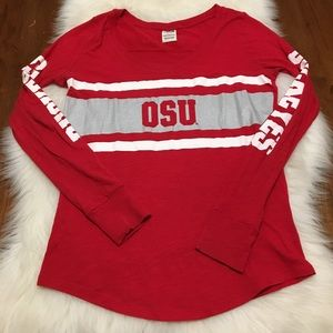 VS PINK OSU Ohio State Long Sleeve Top